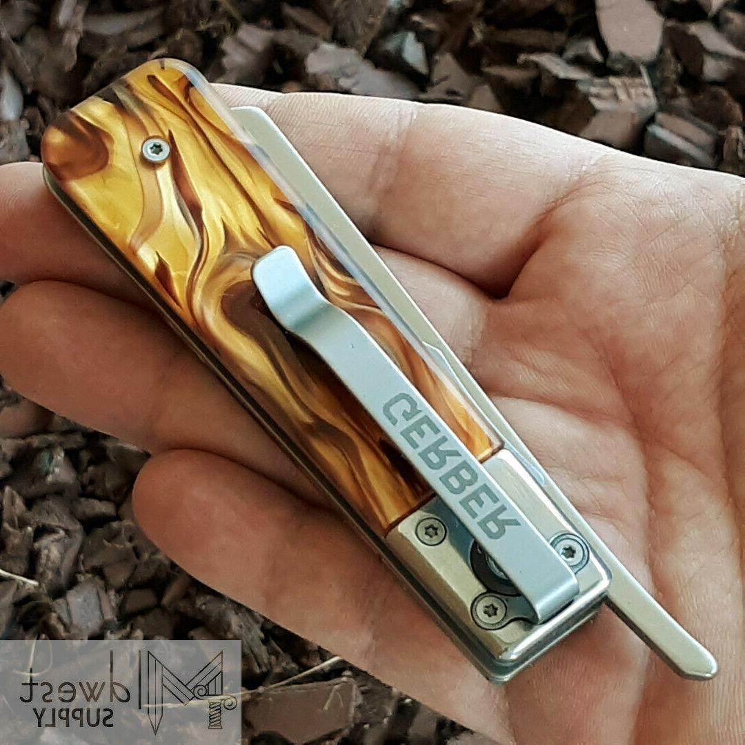 """Gerber Barber Knife 2.7"""" Blade Tortoise Shell"""