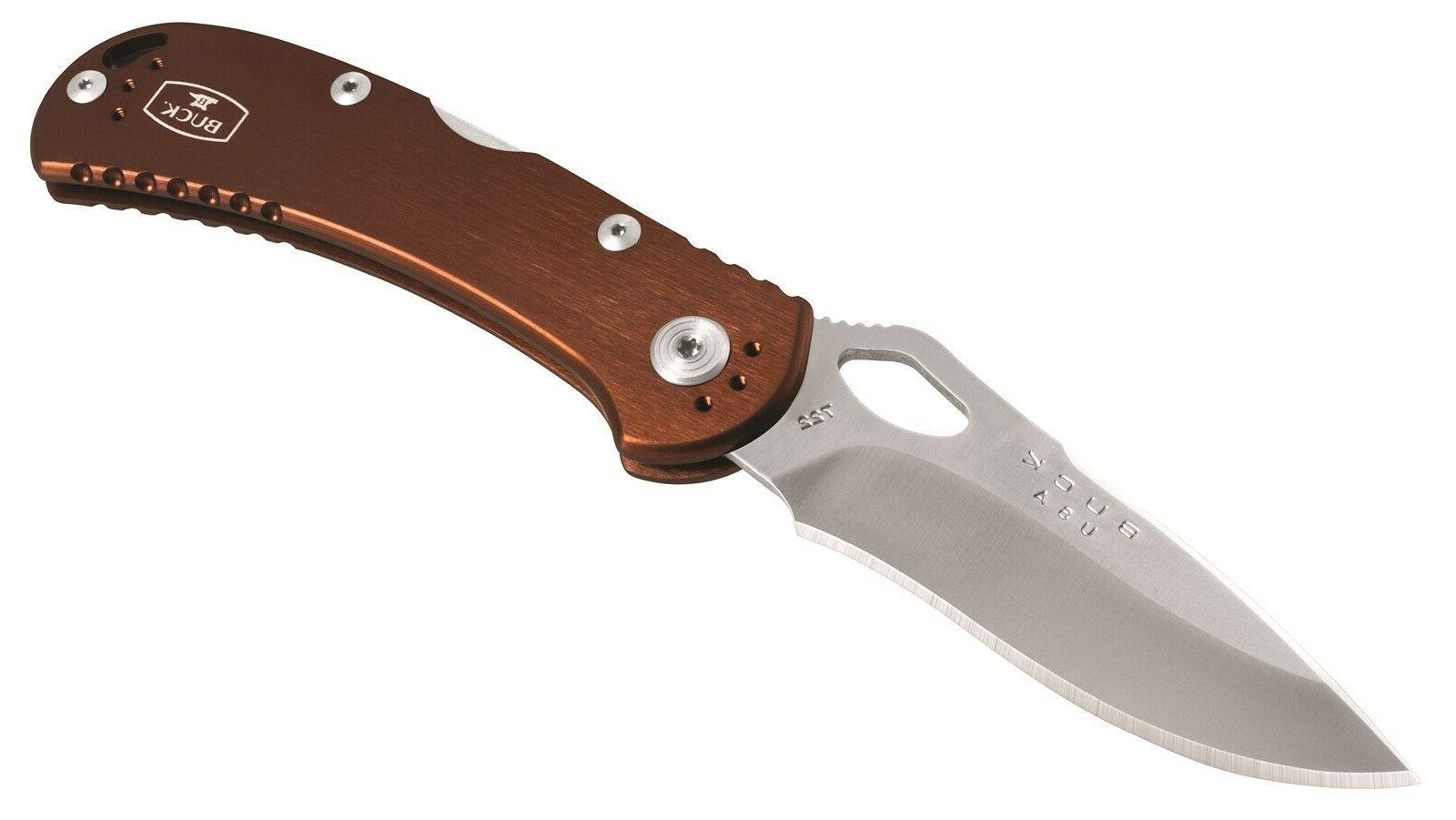 knives 722 spitfire brown locking folding knife