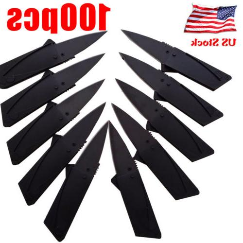 Lot Portable Credit Card Knives Folding Wallet Thin Pocket S