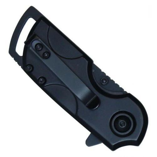 Mini Small Open Black Pocket Tanto Folding