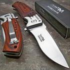 mtech ballistic red pakkawood folding blade pocket