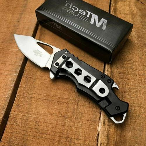 MTech Tactical Spring Assisted Folding Everyday With Bottle Opener