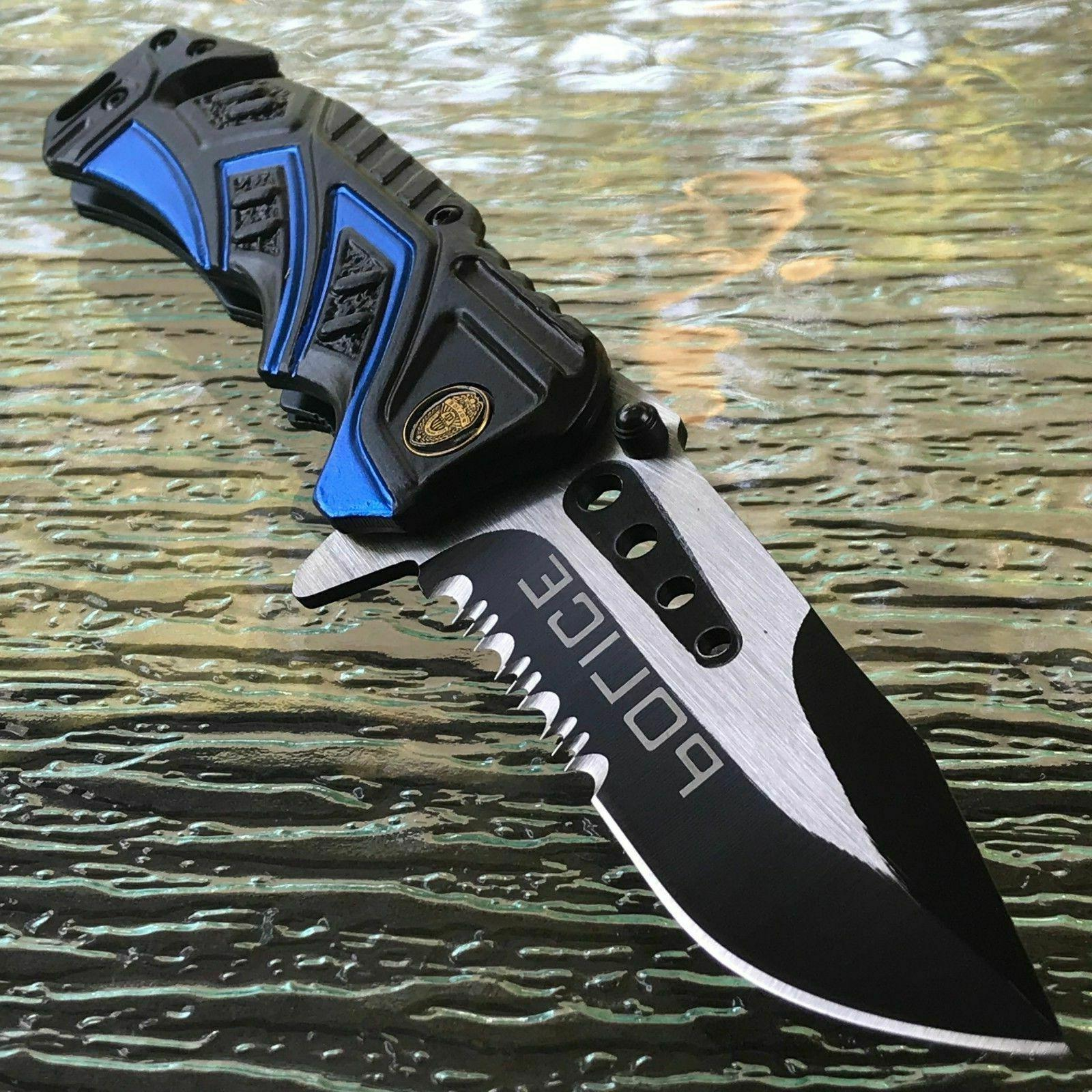 MTECH POLICE SPRING ASSISTED POCKET KNIFE Open