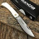 """BOKER PLUS Sodbuster Folding Pocket Knife 3 5/8"""" WHITE Handl"""