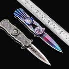 Portable Folding Mini Pocket Knife Dagger Hand Spinner Toy O