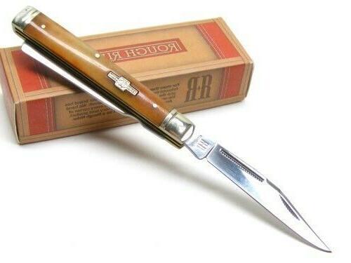 Rough Tobacco 2 Blade Folding Knife