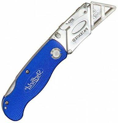 Sheffield 12113 One-Hand Opening Lock-Back Utility Knife,