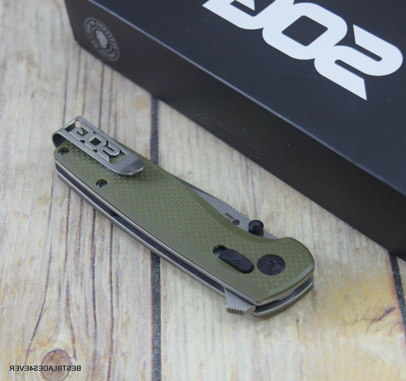 SOG GREEN G10 KNIFE POCKET SHARP
