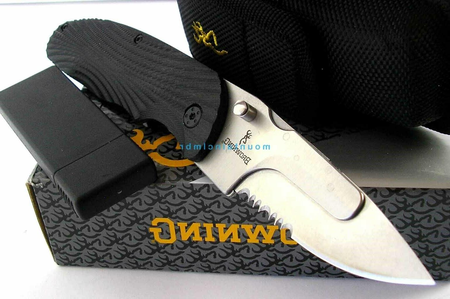 Browning Folding Utility Knife-Model 3220207-NEW IN BLISTER PACK