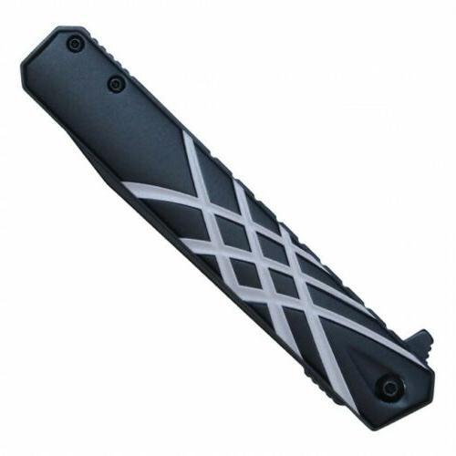 Spring-Assist Wartech Black Silver Slim Tactical EDC