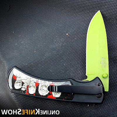 Tactical Green Assisted Walking Blade Folding Pocket