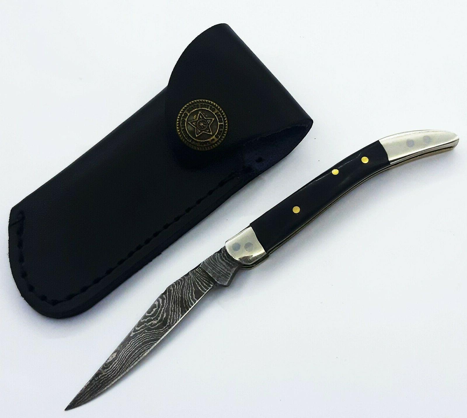 """Texas Damascus Steel Knife""""Buffalo Horn"""