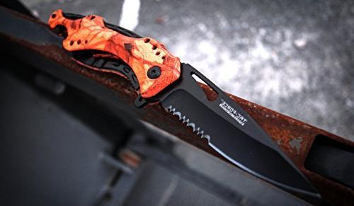 TAC TF-705RC-MC TF-705 Series Assisted Folding Half-Serrated Blade,