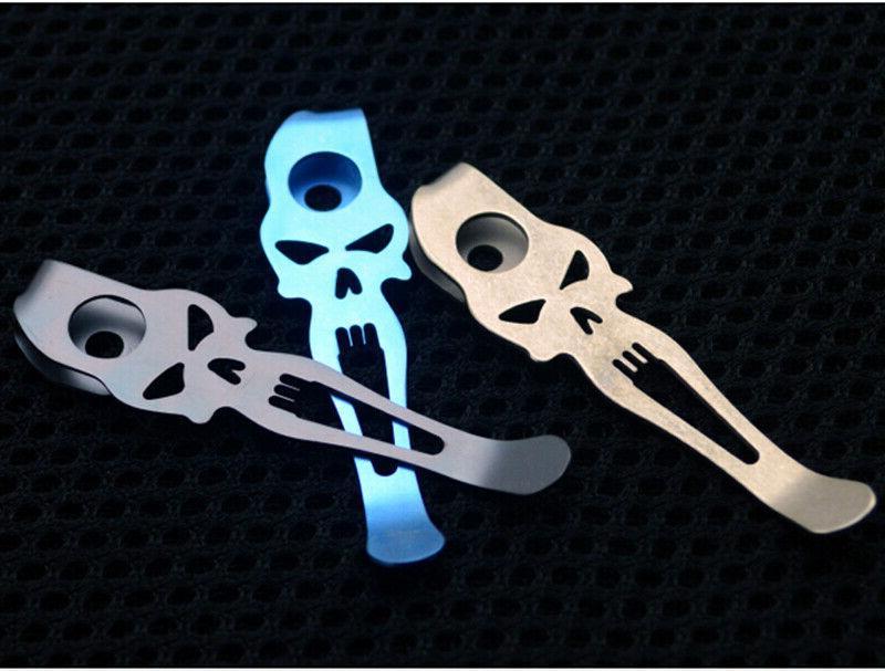 Titanium Deep Clip SMF Folding Knife Back