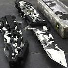 """9"""" US ARMY """"LIBERATOR"""" WINTER CAMO LICENSED SPRING ASSISTED"""