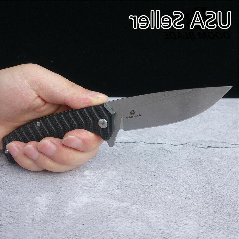 D2 Blade Ball Bearing Knives Hunting Folding Knife G10 Handl