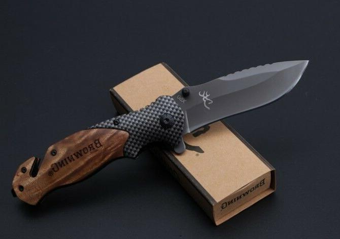 Folding Tactical Pocket Knife Hunting Camping Folding Surviv