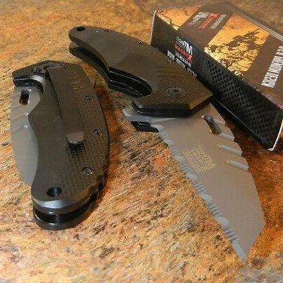 MTECH Xtreme Spring Assisted Grey WHARNCLIFFE Tactical Foldi