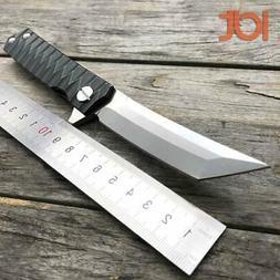 LDT Twosun Tanto Folding Knife D2 Blade Steel Handle Tactica