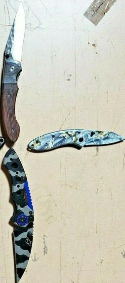 lot 4 EDC Knife Camping Hunting Fishing Tactical Pocket Purs