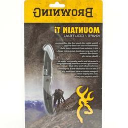 Browning 322561 Mountain Ti Folding Knife, Small, Gray