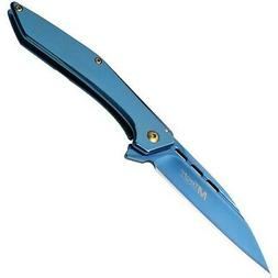 MTech MT-1052BL Framelock Blue Stainless Steel Wharncliffe P