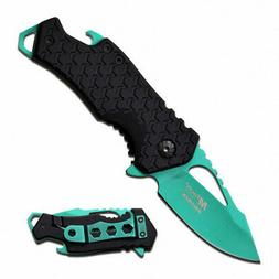 MTech USA MT-A882GN Spring Assist Folding Knife, Turquoise B