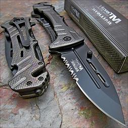 "Pocket Knife Mtech Ballistic 8"" Bottle Opener Rescue Blade"
