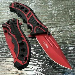 """MTECH USA 8.25"""" RED SPRING ASSISTED TACTICAL FOLDING POCKET"""