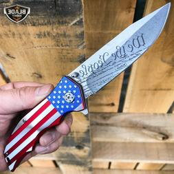 mtech usa american flag spring assisted folding