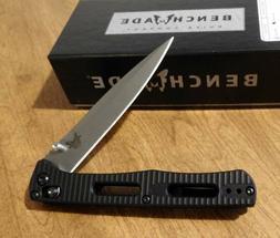 BENCHMADE New 417 Black Aluminum Handle FACT Plain Edge S30V