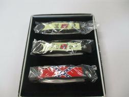 """NEW"" Confederate Collection Folding Pocket knife 3 knife se"