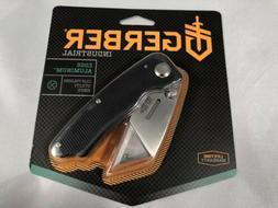 New Gerber Edge Folding Knife Aluminum Handle, Black 31-0006