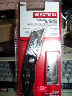 NEW SEARS Craftsman  Metal Folding Lockback Utility Knife Bl