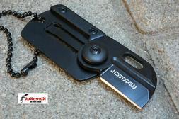 "NEW Wartech® 2.75"" Black Folding Card Pocket Knife Keychain"