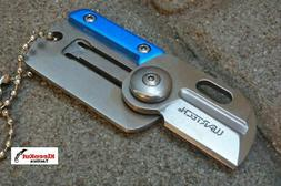 "NEW Wartech® 2.75"" Blue Folding Card Pocket Knife Keychain"