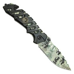 "New WARTECH Camo Folder Assisted Open Pocket Knife 8"""