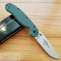 "Ontario RAT II Folding Knife 3"" D2 Tool Steel Drop Point Bla"