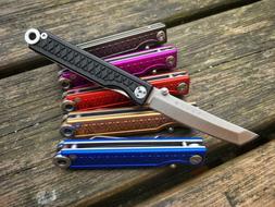 StatGear Pocket Samurai Aluminum Folding Knife - Keychain Ke