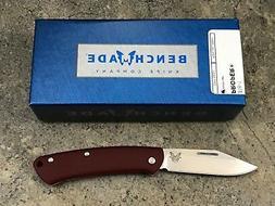 Benchmade Proper Folding Knife 318-1 Red Contoured G10 Handl