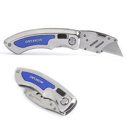 WORKPRO Quick-Change Folding Utility Knife - Retractable Uti