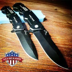 Quick Open Knives Black Folding Pocket Knife Tactical Surviv