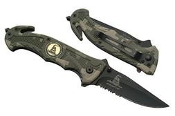 "R-80-CA. Trigger Assist 8"" Tactical Knife ""Don't Tread On Me"