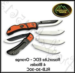 Outdoor Edge Razor-Lite EDC 3.0 Inch Replaceable Blade Foldi