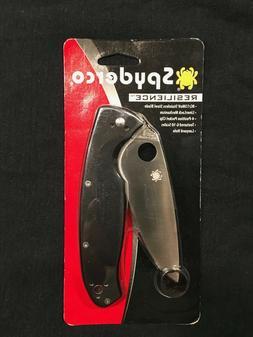 Spyderco Resilience Folding Knife 8Cr13MoV Plain Edge Black