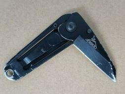 ridge framelock folding knife money clip fine