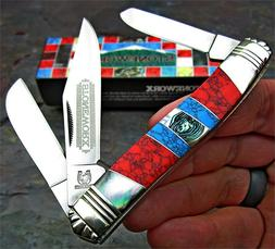 Rough Rider Mother of Pearl Turquoise MOP Stoneworx Stockman