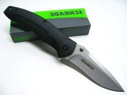 Schrade SCH217L Large Liner Lock Folding Knife Drop Point Bl