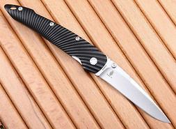KIZER SLIVER LINERLOCK FOLDING KNIFE S35VN STAINLESS BLACK A