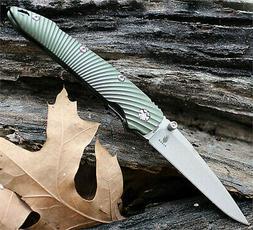 KIZER SLIVER LINERLOCK FOLDING KNIFE S35VN STAINLESS GREEN A